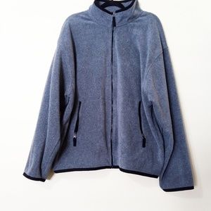 Gap Full Zip Sweatshirt XL Gray with Black trim